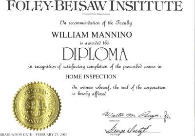 Diploma from Foley-Belsaw Institute